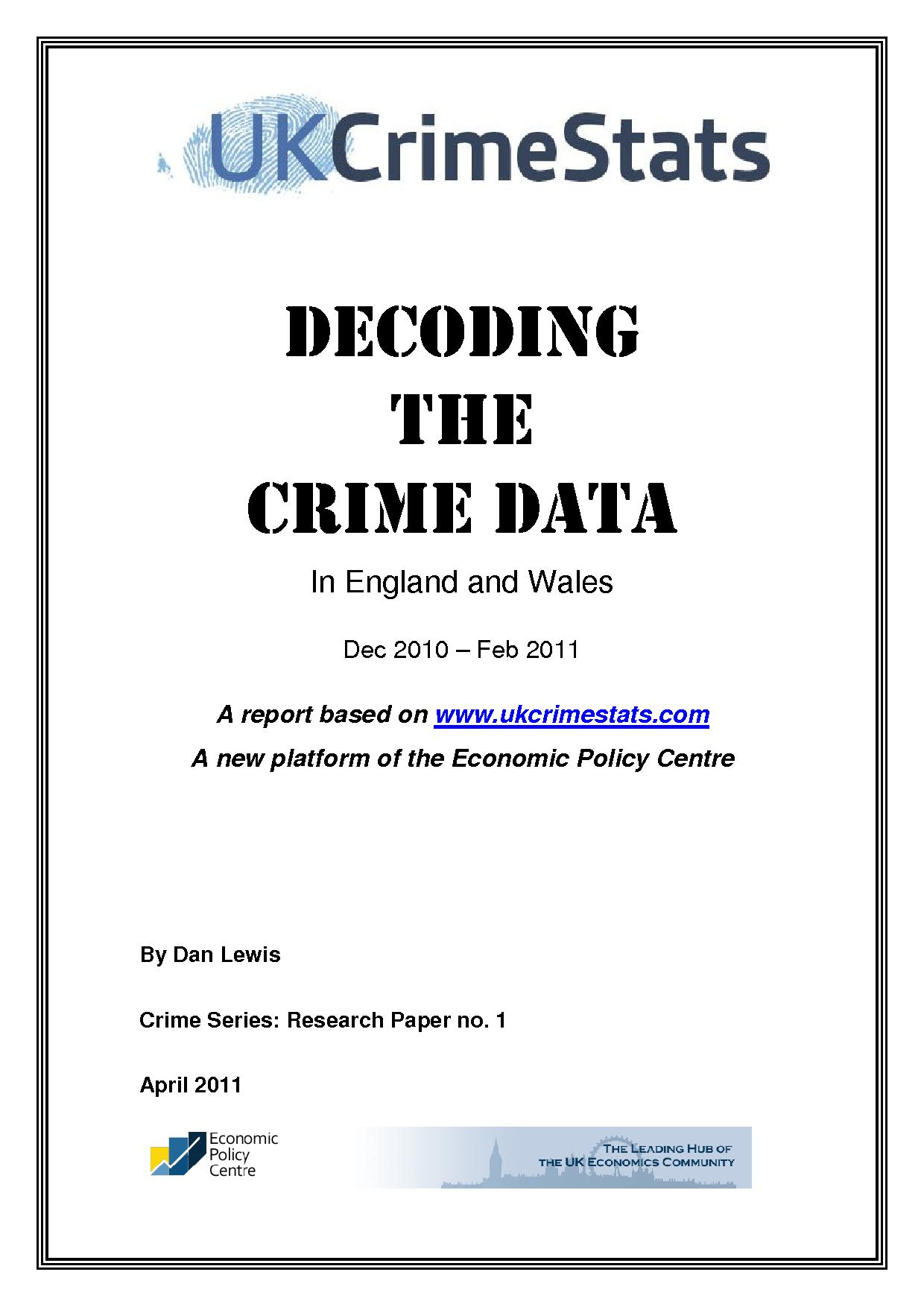 Decoding the Crime Data: Dec 2010 - Feb 2011